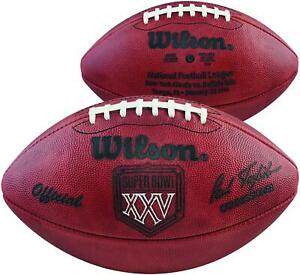 Super Bowl XXV Wilson Official Game Football Fanatics Authentic Certified