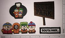 4 SOUTH PARK COMEDY CENTRAL ANIMATED SITCOM PATCH LOT KENNY KYLE CARTMAN STAN