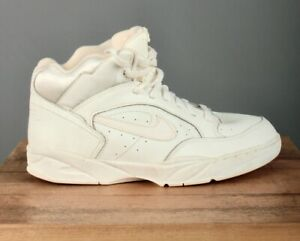 Women's NOS 1990s Nike High Top Air Force Sneakers sz 10.5 90s Vtg White Shoes