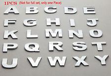 Individual 1Piece DIY Chrome Letter Alphabets 3D Car Badge Sticker Decal Emblem