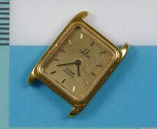 Vintage OMEGA De Ville Quartz Ladies Tank Gold Plated Watch Ref. 1387 FOR REPAIR