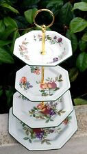 Johnson Brothers FRESH FRUIT 4 Tier Cake Stand Beautiful Condition Plates