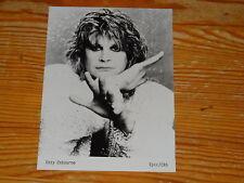 OZZY OSBOURNE / RARES EPIC/CBS-PROMO-PHOTO 18cm X 13cm