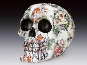 Skull Poker Printing Figurine Statue Skeleton Halloween