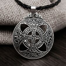 Norse Viking Rune Celtic Knot Pendant Necklace
