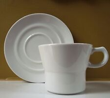 D&V TechnoCeram China SuperWhite Vitrified Y-Shaped cup & saucer (set=1 of each)