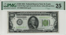 1934 $100 FEDERAL RESERVE NOTE ST.LOUIS FR.2151-Hlgs PMG VERY FINE VF 25 (160A)