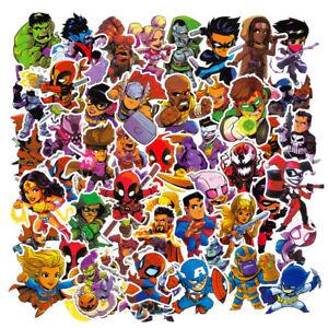 50pcs Cartoon Marvel Super Hero Sticker Pack Water bottle Luggage Laptop Decals