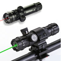 Green/Red Laser Tactical Sight Rifle Dot Scope 980FT W Switch W 25mm Metal Mount