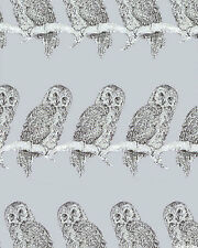 Fat Quarter Gothic Glam Owls Silver Halloween Cotton Sewing Quilting Fabric