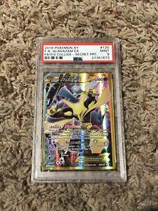 PSA 9 Pokemon Alakazam EX XY Fates Collide Full Art Holo Card 125 Secret Rare