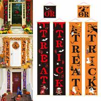 """Hanging Flag Banner """"Trick Or Treat """" Halloween Door Decor Sign Banner"""