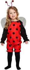 LADY BUG TODDLER GIRLS FANCY DRESS OUTFIT CHILDREN PARTY COSTUME 2-4 YEARS
