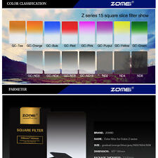 ZOMEI 100mm GND ND2+ND4+ND8+ND16 filter+77mm ring+holder+16 Slot Case For Cokin