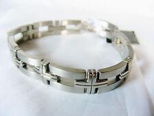 "Titanium link bracelet 9"" with ""cross"" links"