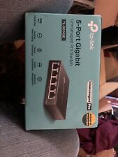 Tp-Link Tl-Sg105E 5-Port Gigabit Easy Smart Switch New In Box As Pictured