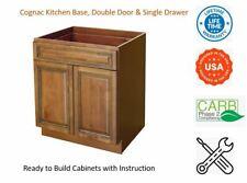Cognac Kitchen Base Cabinet, Single Drawer & Double Door