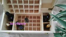 BIG 5ml ~100ml 49 Bottles Essential Oil Wood Box 2 Drawer Storage Case Organizer