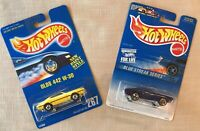 Hot Wheels Olds 442, 1991 #267 Yellow & 1991 Blue #1 of Blue Streak Series