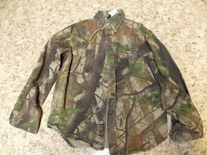 LIBERTY YOUTH Medium Realtree Hardwoods CAMO Button Up Shirt--Free Shipping