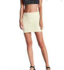 ORIGINAL American Apparel Ponte Mini Skirt Pale Baby Yellow S NEW