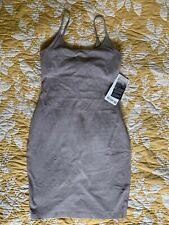 NWT Lululemon Inner Glow Dress Sz 6 Washed Half Moon Grey Stretch