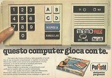 X9598 POLISTIL - Memo Quix - Mike Bongiorno - Pubblicità 1979 - Advertising