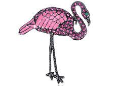 Bird Paradise Costume Pin Brooch Gift Elegant Rose Pink Crystal Rhinestone Crane