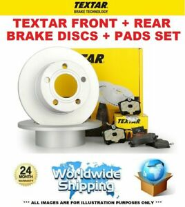 TEXTAR FRONT + REAR BRAKE DISCS + PADS SET for NISSAN NOTE 1.5 dCi 2008-2012
