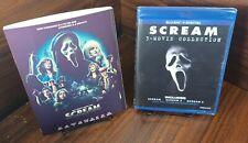Scream 3-Movie Collection (Blu-ray+Digital) Custom Slipcover-NEW-Free Shipping!