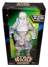"Star Wars Snowtrooper 12"" Action Figure w/Firing Imperial Blaster Kenner NIB"