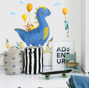 Cartoon Large Dinosaur Wall Stickers For Kids Rooms Home Decor Animal Wall Decal