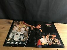 1981 Vintage 2Pg Magazine Poster/Centerfold Freddie Mercury+Queen Best Group