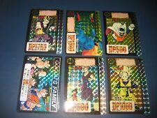 DRAGON BALL Z CARDDASS PART 16 FULL SET 6 PRISMS CARDS SET