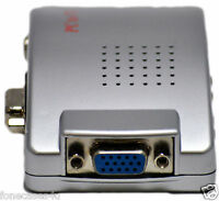 PC Laptop VGA to TV AV RCA S-Video Signal Converter Adapter Box Transmitter UK