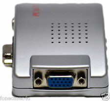 PC portable VGA vers TV AV RCA Adaptateur Convertisseur de signal S-Video Box transmetteur uk