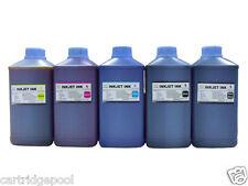 5 Quart refill ink for HP Canon Brother Dell Lexmark all inkjet Printer 2BK+3C