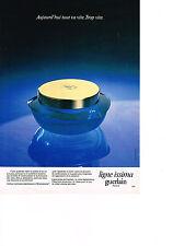 PUBLICITE  ADVERTISING  1980    GUERLAIN  cosmétiques soins de la peau