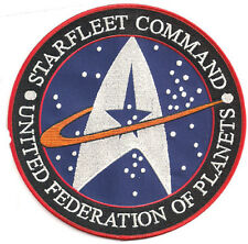 "STAR TREK Starfleet Command Logo 4"" Embroidered Patch-FREE S&H  (STPA-5001)"