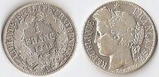 *1 FR ARGENT CÉRÈS 1888  A  COTÉE  200 € ÉTAT  VOIR SCANNE ET DESCRIPTIF
