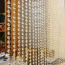 Crystal Glass Bead Curtain Luxury Living Bed Room Window Door Christmas Decor
