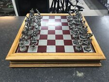 The Fantasy of the Crystal Chess Set From Danbury Mint w/ Swarovski Crystals