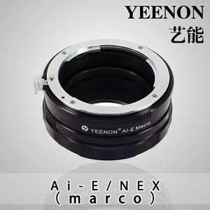 YEENON Nikon AI AIS lens to SONY E-MOUNT  body AI-NEX Helicoid Adapter(macro)