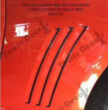 Chevy Camaro Side Vent Gills Inlay Vinyl Decal  2010-2015 perfect fit