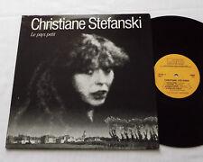 Chrisiane STEFANSKI Le pays petit BELGIUM LP 33t CHANTEL CHL 002(1982)rock blues