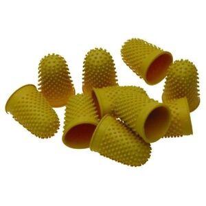 Thimblettes Rubber Thimbles Finger Cones YELLOW Size2 20mm LARGE