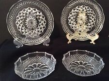 ANCHOR HOCKING WEXFORD cut glass soup & salad plate set. Set of 2