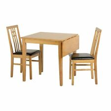 Vienna Drop Leaf Dining Set Medium Oak/Brown Pu