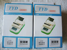 Lot of 2 Universal Battery Charger for Cellphone - PDA - Camera - MP3 Player