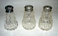 ABP American Brilliant Cut Glass J.D.Bergen Pitkin & Brooks Salt Pepper Shakers